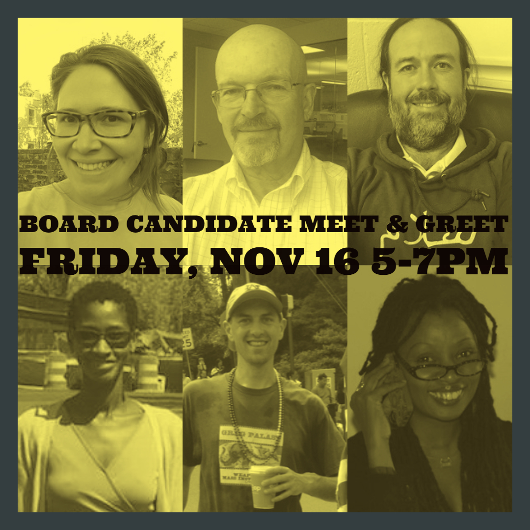 Board Candidate Meet and Greet graphic
