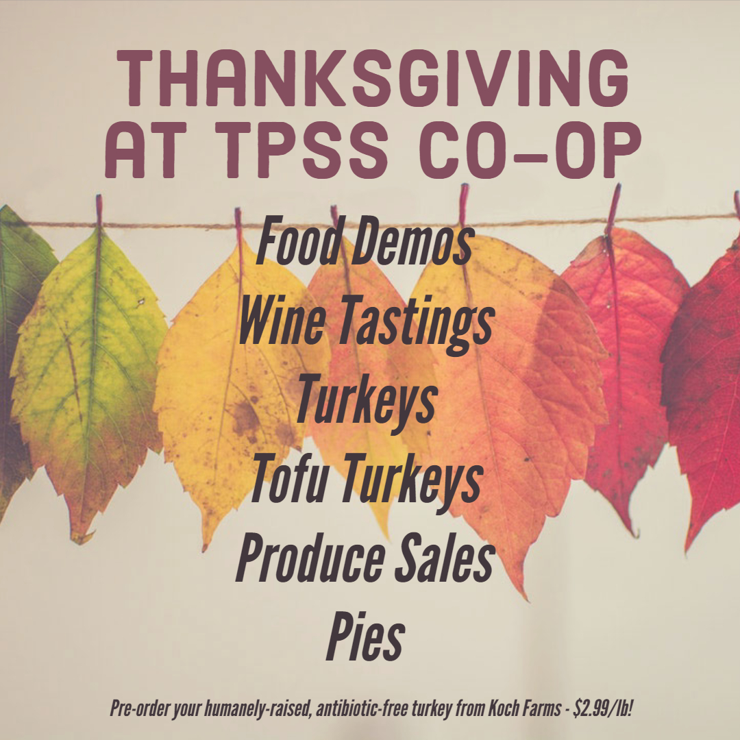 thanksgiving at the co-op graphic