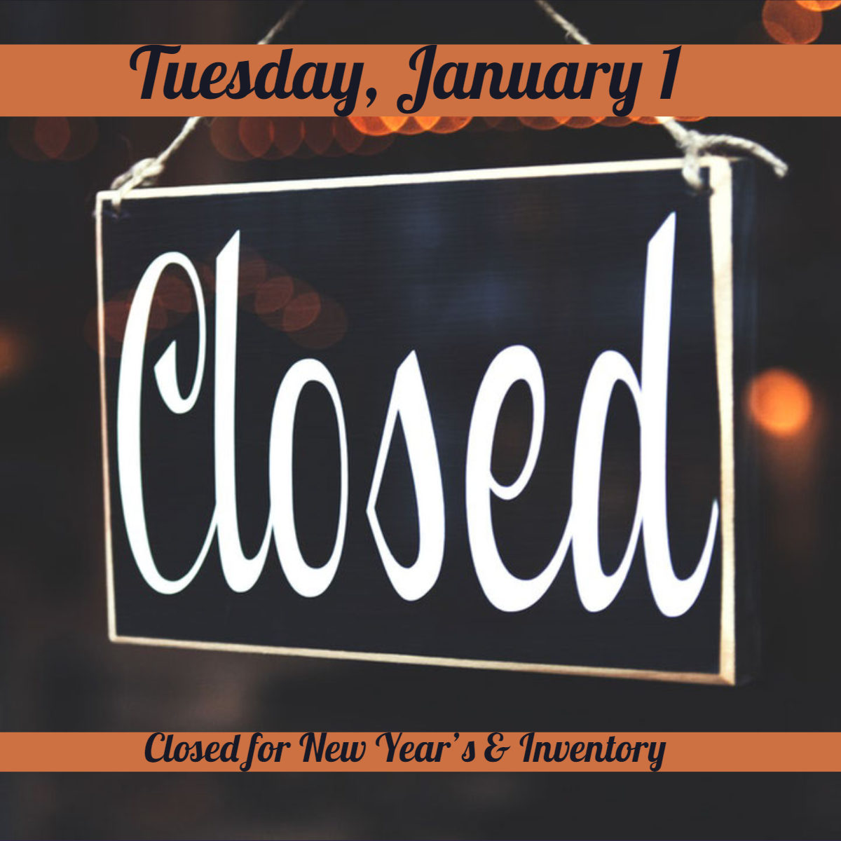 Closed New Year's graphic