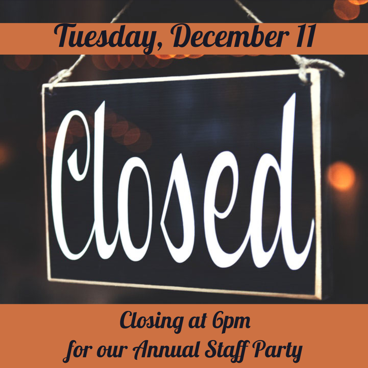closing early graphic