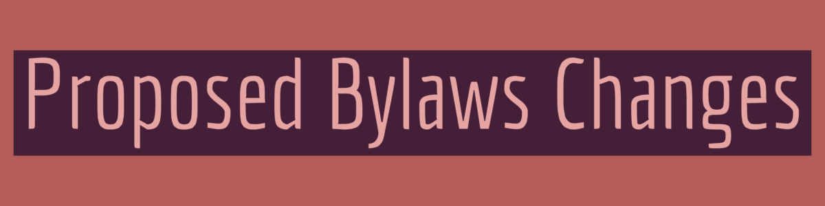 proposed bylaws changes graphic